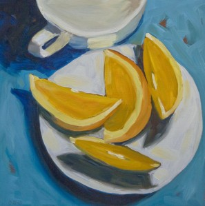 Title: Plate with Oranges, Beth Collins